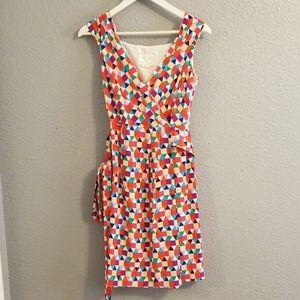 Kate Spade Geometric Wrap and Tie Dress Sz 2
